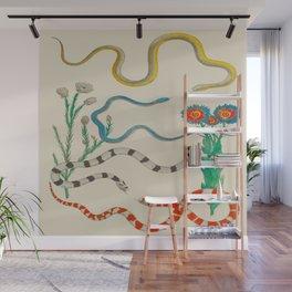 Locupletissimi rerum naturalium - vol. 2 - Albertus Seba Colorful Snake Floral Arrangement Wall Mural
