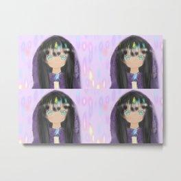 Magical Universe world Kawaii cute Anime Girl Metal Print