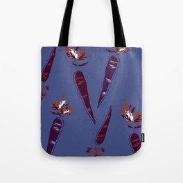 Mauve Carrot Print Tote Bag