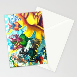fishes that fly Stationery Cards