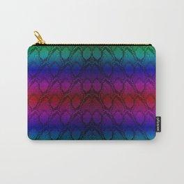 Bright Metallic Rainbow Python Snake Skin Carry-All Pouch