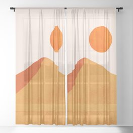 Abstraction_Mountains_SUN_Minimalism_01 Sheer Curtain