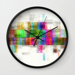 Mosaic Paint Pixels Wall Clock