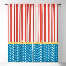 Superhero Wonder Pattern I Blackout Curtain