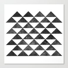 Rows of Triangles Canvas Print