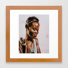 """No matter where you're from, your dreams are valid."" - Lupita Nyong'o Framed Art Print"