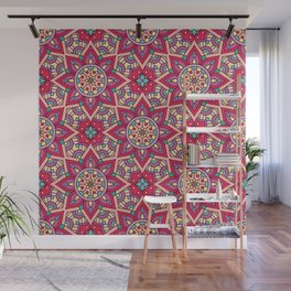 Kaleidoscopic Kente Wall Mural