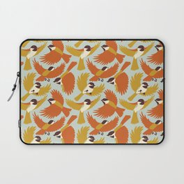 Chickadees in Orange Laptop Sleeve