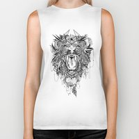 lion Biker Tanks featuring Lion by Feline Zegers