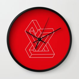 Optical illusion - Impossible figure Wall Clock