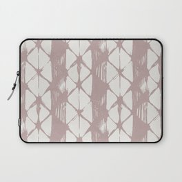 Simply Braided Chevron Clay Pink on Lunar Gray Laptop Sleeve