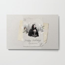OUAT HAPPY HOLIDAYS // The Queen 1 Metal Print