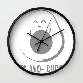 Lets Avo-Cuddle Wall Clock
