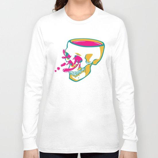 Liquid thoughts:Skull Long Sleeve T-shirt