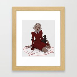 Half-blood witch Framed Art Print