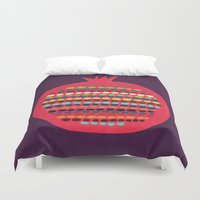 pomegranate Duvet Covers featuring Pomegranate by Picomodi