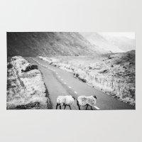 irish Area & Throw Rugs featuring Irish Sheeps by GF Fine Art Photography