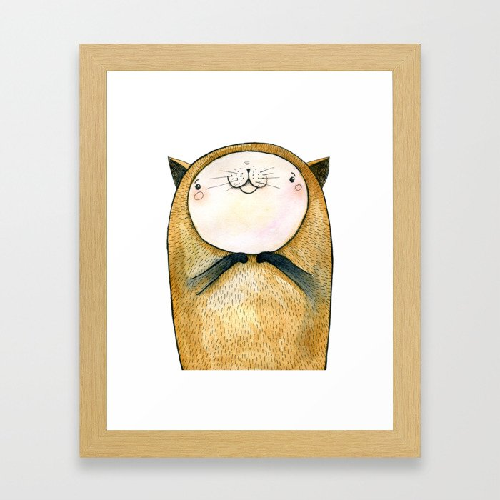 cutie cat Framed Art Print