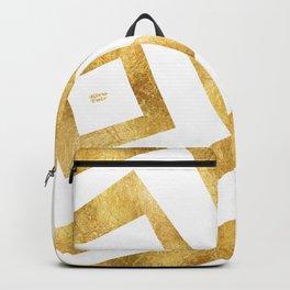 ART DECO VERTIGO WHITE AND GOLD #minimal #art #design #kirovair #buyart #decor #home Backpack