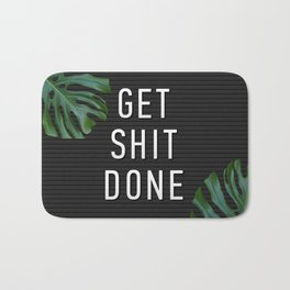 Get Shit Done Letter Board Bath Mat