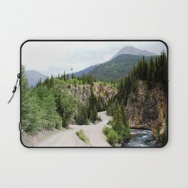 Following the Ore Bucket Tramway from the Mayflower Mill to the Mayflower Mine Laptop Sleeve