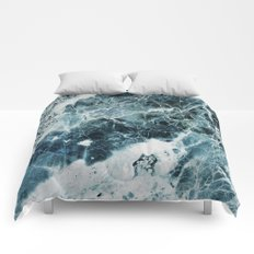 Blue Sea Marble Comforters