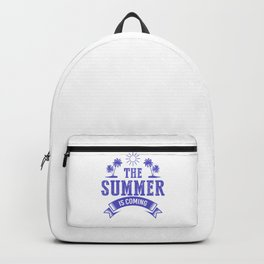 The Summer Is Coming pu Backpack