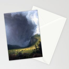 Albert Bierstadt - Gathering Storm in the Valley (1891) Stationery Cards