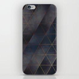 moody triangles 01 // golden & purple iPhone Skin