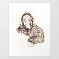 sasquatch Art Prints featuring Sasquatch?  by prevor