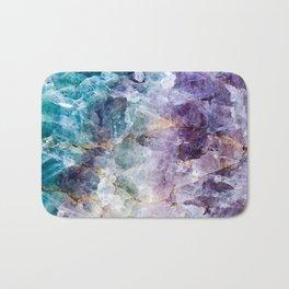 Quartz Stone - Blue and Purple Bath Mat
