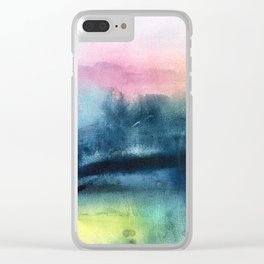 pastel horizon Clear iPhone Case