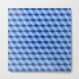 Insomniac Three Dimensional 3D Cube Seamless Pattern Metal Print