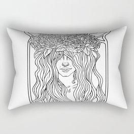 She. Art Nouveau. Rectangular Pillow