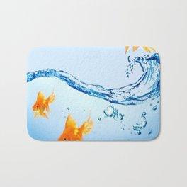 GOLDFISH AQUARIUM WATER ART Bath Mat