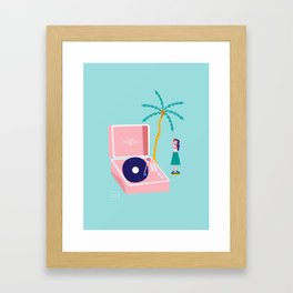 The Hula Dancer Framed Art Print