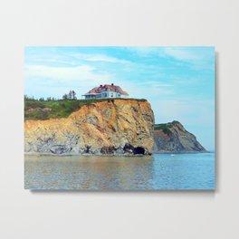 Cliffs of Perce Quebec Metal Print