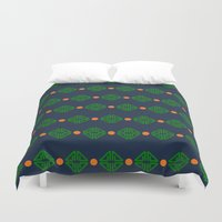preppy Duvet Covers featuring Preppy Logo by Lillian Burns