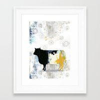 cow Framed Art Prints featuring Cow by Sarah Ogren