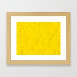 Geometric Fat Yellow Framed Art Print