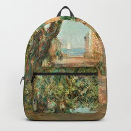Classical Masterpiece 'Provincetown, Cape Cod' by Frederick Childe Hassam Backpack