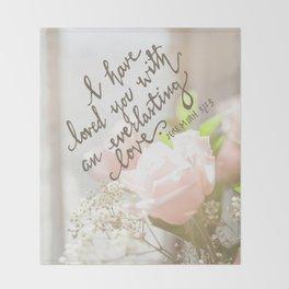 Roses & An Everlasting Love Throw Blanket