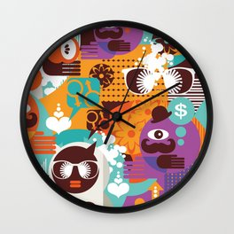 Adam and Eve. Wall Clock