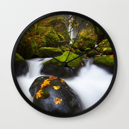 Elowah Falls Autumn Wall Clock