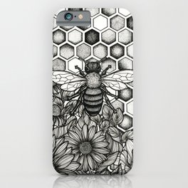 Floral Bee iPhone Case