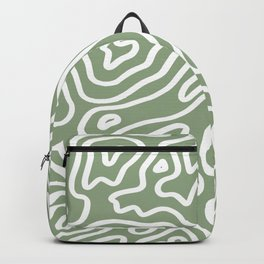 Topographic Abstract | Sage Backpack