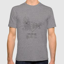 Twin Cities Lines Map T-shirt