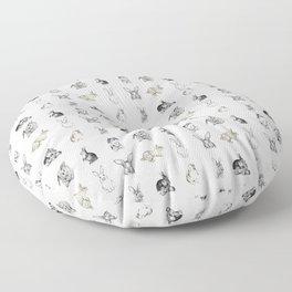 Vintage Bunny Rabbit Pattern Floor Pillow