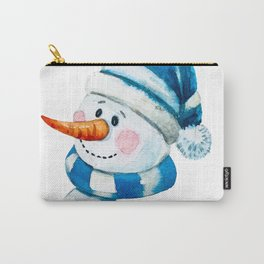 Blue Snowman 01 Carry-All Pouch