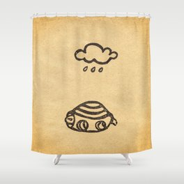 Cranky Turtle Shower Curtain